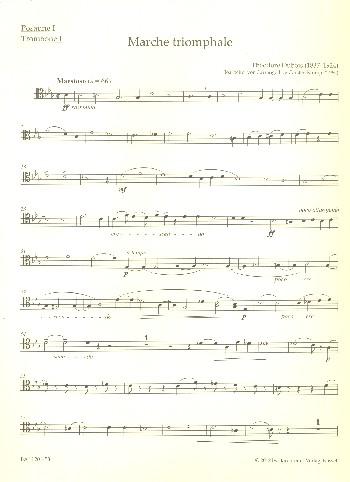 Marche triomphale: für Orgel und Blechbläser (Posaunenchor)