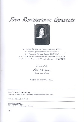 5 Renaissance Quartets: for 4 bassoons score and parts