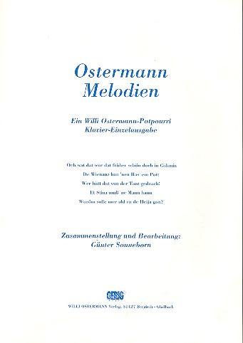 Ostermann-Melodien: Potpourri für Gesang und Klavier