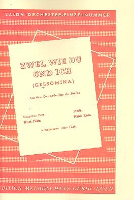 Gelsomina aus La Strada: für Salonorchester