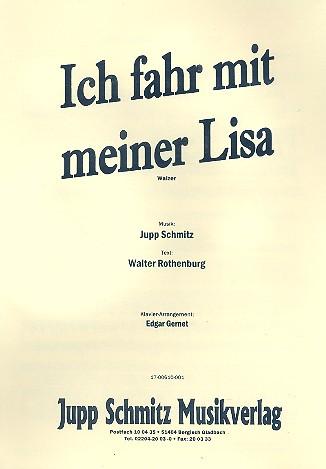 Ich fahr mit meiner Lisa: für Gesang und Klavier