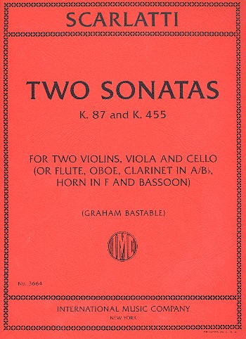 2 Sonatas: for 4 string instruments (5 wind instruments)