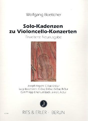 Boettcher, Wolfgang - Solo-Kadenzen zu Violoncello-Konzerten :