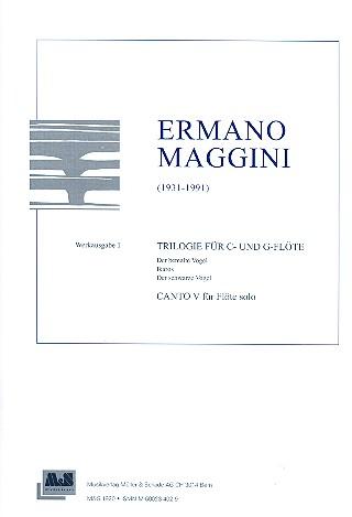 Trilogie für C- und G-Flöte  und Canto V für Flöte solo