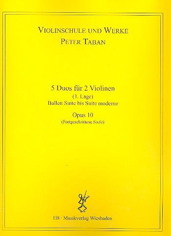 Schule opus.10 - 15 Duos: für 2 Violinen Spielpartitur