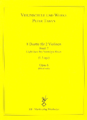 Schule opus.11 - 8 Duos: für 2 Violinen