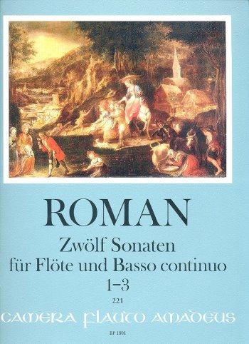 12 Sonaten Band 1 (Nr.1-3): für Flöte und Bc