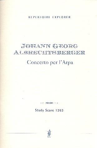 Konzert C-Dur: für Harfe und Orchester Studienpartitur