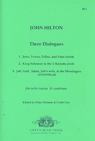 3 Dialogues: for 3-8 solo voices and Bc 9 scores (Bc realized)