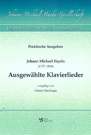 Haydn, Johann Michael - Ausgewählte Klavierlieder : für Gesang