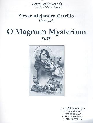 O magnum mysterium: for mixed chorus a cappella