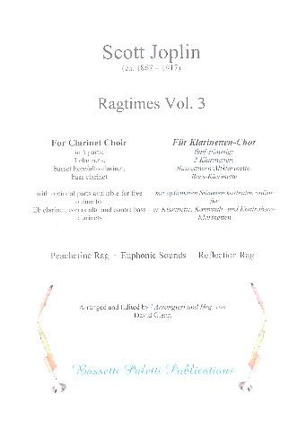 Ragtimes Band 3: für Klarinetten-Ensemble Partitur und Stimmen