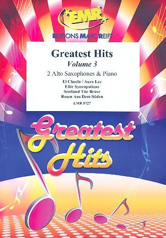 Greatest Hits vol.3: for 2 alto saxophones and piano (percussion ad lib)
