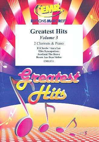 Greatest Hits vol.3: for 2 clarinets and piano (percussion ad lib)