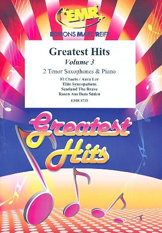 Greatest Hits vol.3: for 2 tenor saxophones and piano (percussion ad lib)