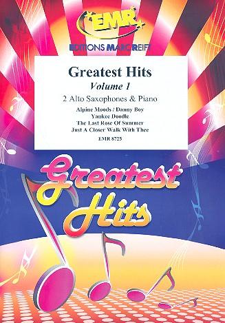 Greatest Hits vol.1: for 2 alto saxophones and piano (percussion ad lib)