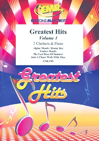 Greatest Hits vol.1: for 2 clarinets and piano (percussion ad lib)