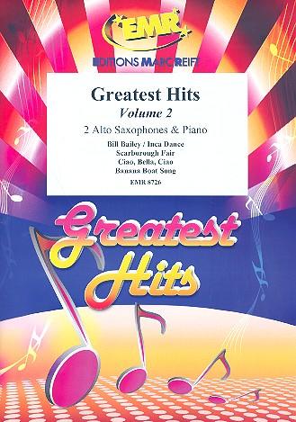 Greatest Hits vol.2: for 2 alto saxophones and piano (percussion ad lib)