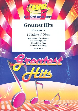 Greatest Hits vol.2: for 2 clarinets and piano (percussion ad lib)