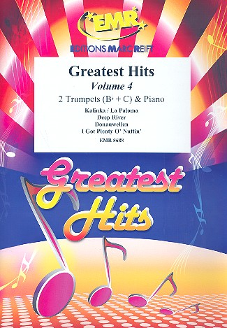 Greatest Hits vol.4: for 2 trumpets and piano (percussion ad lib)
