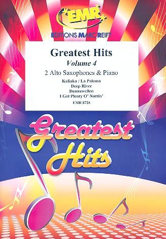 Greatest Hits vol.4: for 2 alto saxophones and piano (percussion ad lib)
