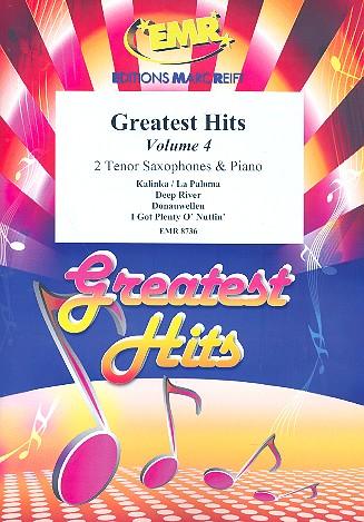 Greatest Hits vol.4: for 2 tenor saxophones and piano (percussion ad lib)