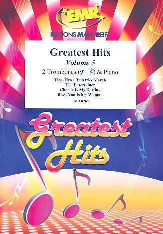 Greatest Hits vol.5: for 2 trombones and piano (percussion ad lib)