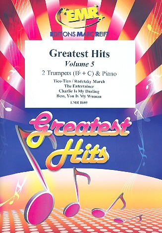 Greatest Hits vol.5: for 2 trumpets and piano (percussion ad lib)