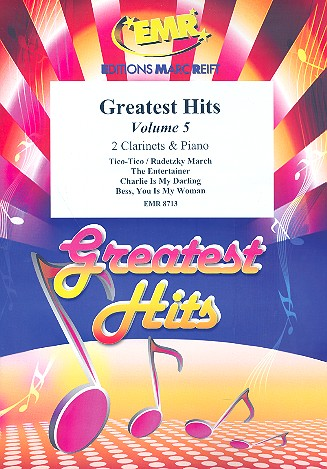 Greatest Hits vol.5: for 2 clarinets and piano (percussion ad lib)