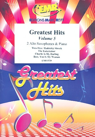 Greatest Hits vol.5: for 2 alto saxophones and piano (percussion ad lib)