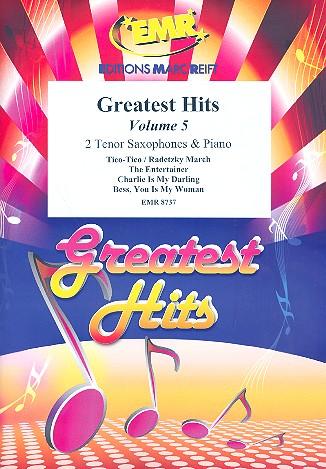 Greatest Hits vol.5: for 2 tenor saxophones and piano (percussion ad lib)