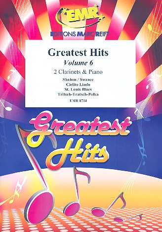 Greatest Hits vol.6: for 2 clarinets and piano (Percussion ad lib)