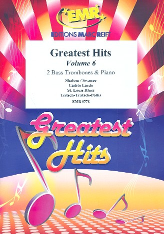 Greatest Hits vol.6: for 2 bass trombones and piano (Percussion ad lib)