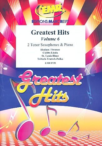 Greatest Hits vol.6: for 2 tenor saxophones and piano (Percussion ad lib)