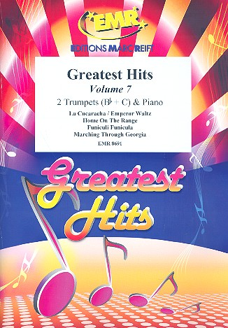 Greatest Hits vol.7: for 2 trumpets and piano (percussion ad lib)