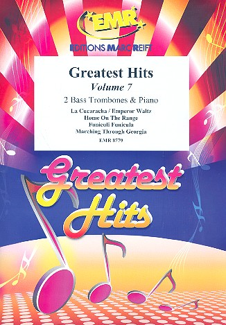 Greatest Hits vol.7: for 2 bass trombones and piano (percussion ad lib)