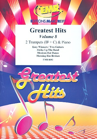 Greatest Hits vol.8: for 2 trumpets and piano (percussion ad lib)