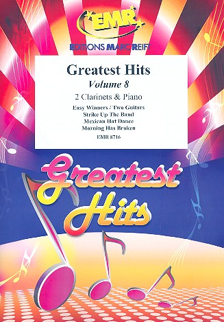 Greatest Hits vol.8: for 2 clarinets and piano (percussion ad lib)