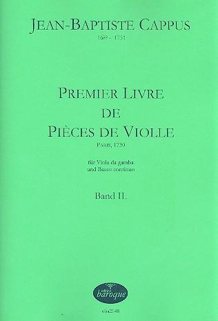 1. Livre de pièces de violle Band 2: für Viola da Gamba und Bc