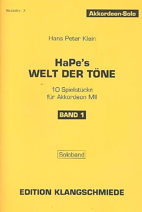 Hapes Welt der Töne Band 1: für Akkordeon