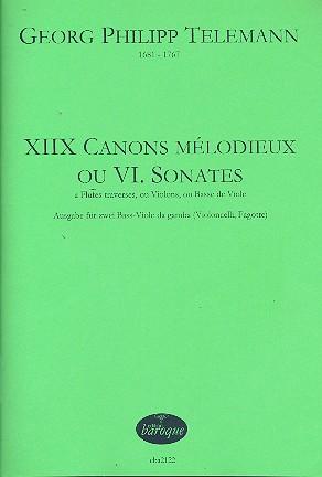 18 Canons Mélodieux ou 6 Sonates: pour 2 Basse-Viole da gamba (2 Vc, 2 Fag)