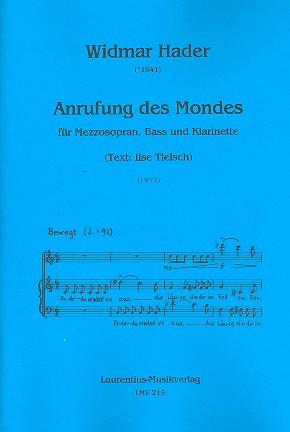 Anrufung des Mondes: für Mezzosopran, Bass und Klarinette