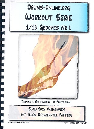 Workout-Serie - 1/16 Grooves Band 1: für Schlagzeug