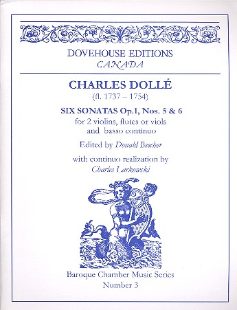 2 Sonatas opus.1,5 and opus.1,6: for 2 violins (flutes/viols) and Bc