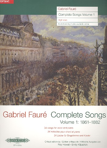 Complete Songs vol.1 (1861-1882): for high voice and piano