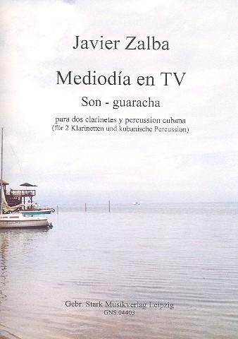 Mediodía en TV: für 2 Klarinetten und kubanische Percussion (Claves und Bongos)