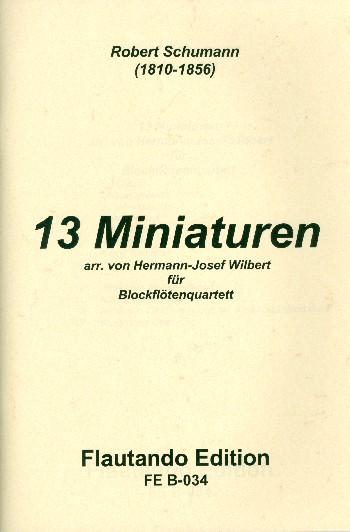 13 Miniaturen: für 4 Blockflöten (SATB)