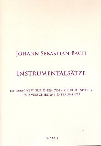 4 Instrumentalsätze: für 1-x Instrumente (flexibles Ensemble)