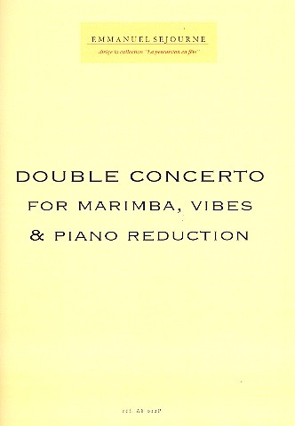 Double Concerto: for marimba, vibes and orchestra: for marimba, vibes and piano