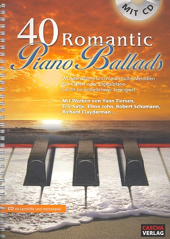 40 romantic Piano Ballads (+CD): für Klavier (Digitalpiano)